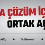 """""""KIBRIS'TA ÇÖZÜM İÇİN ORTAK AÇIKLAMA"""